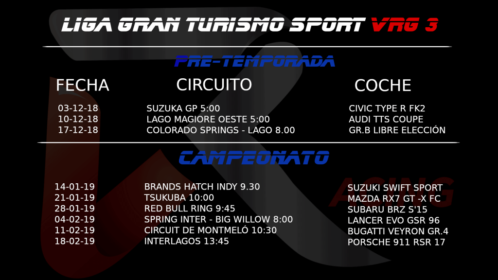 campeonatos virtual racing girona