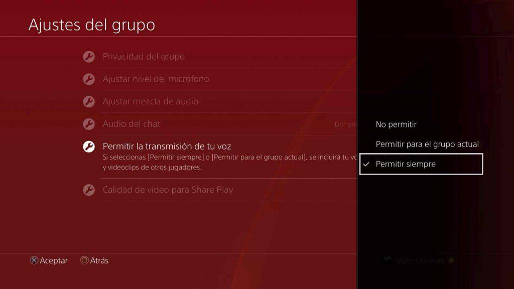 Configurar ajustes de audio ps4